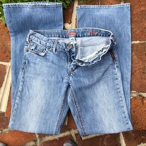 """Silver """"AMIE"""" blue jeans boot cut size 28"""